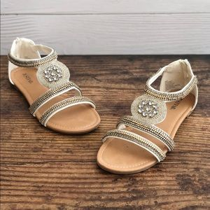 ac802d043cc5a9 Women s Jeweled Flat Sandals on Poshmark